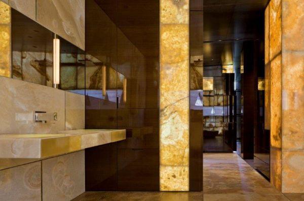 Stunning Onyx Bathroom Desert Mountain Arizona Picasso
